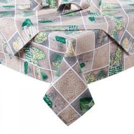 ŠKODÁK BZENEC Ubrus patchwork Srdce zelené 120 x 140 cm