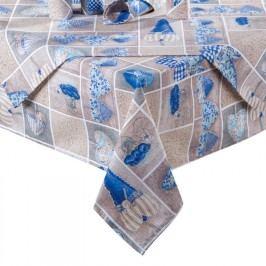 ŠKODÁK BZENEC Ubrus patchwork Srdce modré 140 x 180 cm
