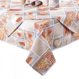 ŠKODÁK BZENEC Ubrus patchwork Srdce oranžové 80 x 80 cm