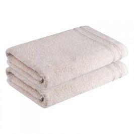 ŠKODÁK BZENEC Bavlněné froté ručníky Rimini béžové sada 2 kusů 50 x 100 cm