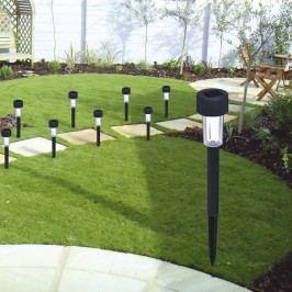 Plastové solární lampy kónický tvar 8 ks