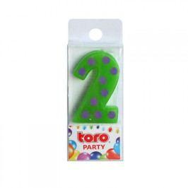 TORO Zapichovací svíčka Číslice 2