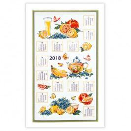 Textilní kalendář Ovoce