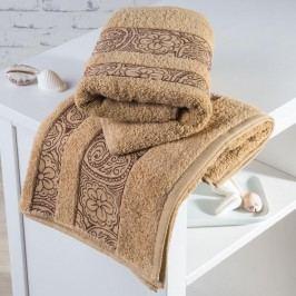 Froté ručníky Madrid pískové sada 4 kusů 50 x 100 cm