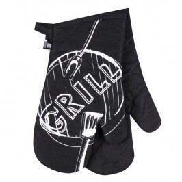 Bavlněná kuchyňská chňapka Grill černá 2 ks