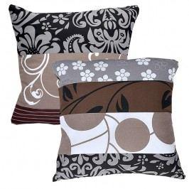 Bavlněné povlaky na polštářky Chocolate 2 ks