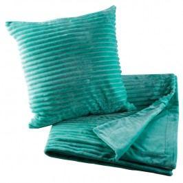 Oboustranná deka s povlakem na polštář Ipala mentolová