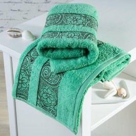 Froté ručníky Madrid zelené sada 4 kusů 50 x 100 cm