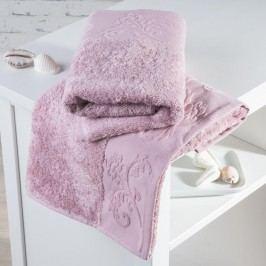 Bambusové ručníky Barcelona růžové sada 2 kusů 50 x 100 cm