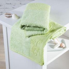 Bambusové ručníky Barcelona světle zelené sada 4 kusů 50 x 100 cm