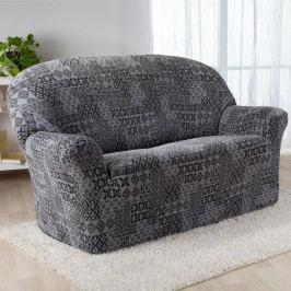 Nueva Textura Monoelastické potahy na sedací soupravuy ADANA šedé na sedačku - dvojkřeslo 140 - 180 cm