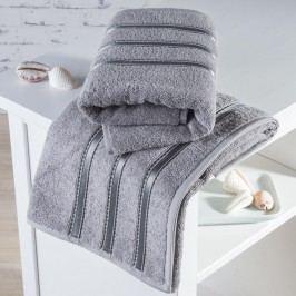 Froté ručníky Bilbao šedé sada 2 kusů 50 x 100 cm