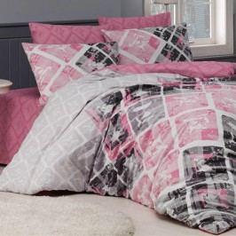 Bavlněné  povlečení Riviéra růžové 140 x 220 cm, 70 x 90 cm