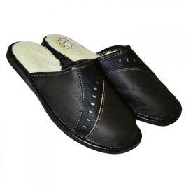 Pánská domácí obuv kožená černá vel. 40