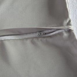 Bambusové  povlečení světle šedé 140 x 200 cm, 70 x 90 cm