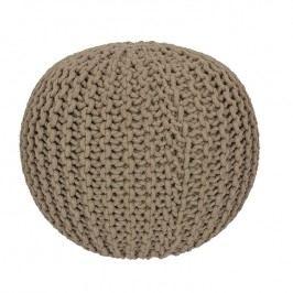 Ručně pletený puf béžový