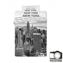 JERRY FABRICS Dětské ložní povlečení New York černobílé 140 x 200 cm, 70 x 90 cm