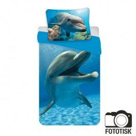 Dětské ložní povlečení Delfín 140 x 200 cm, 70 x 90 cm