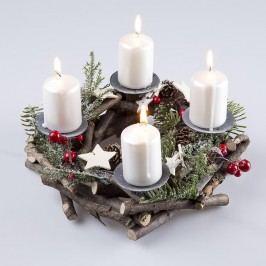 Věnec adventní z větviček s držáky na svíčky