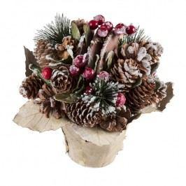 Vánoční květináč šišky a bobule